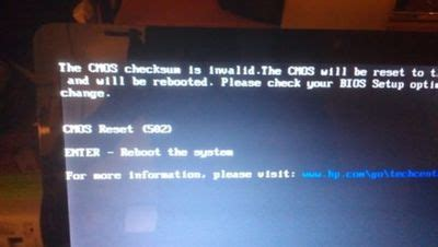 resetting hp g62 blank screen with blinking cursor esc key couldn t bring
