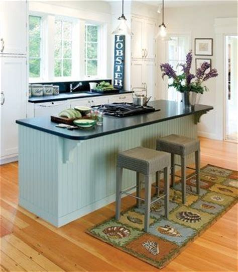 Idea For Kitchen The Great Idea Of A Rug Runner Under The Kitchen Barstools