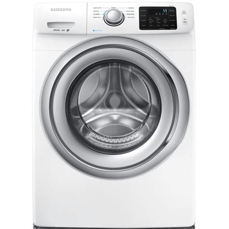 shop samsung 4 2 cu ft high efficiency stackable front load washer with steam cycle white