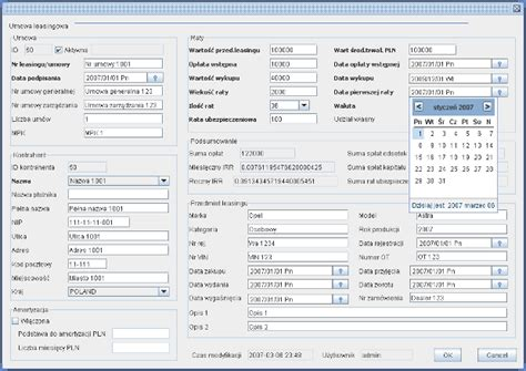 swing database application exle i made this application myself for polish hertz division