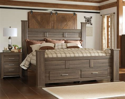 Poster bed with storage footboard king size shown amp available in
