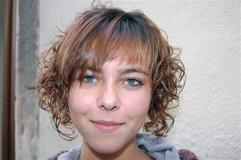 fringes and perms short hairstyles for curly hair stylish eve
