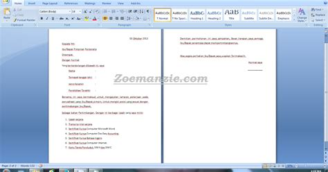 contoh surat lamaran kerja dari info fair 28 images contoh surat