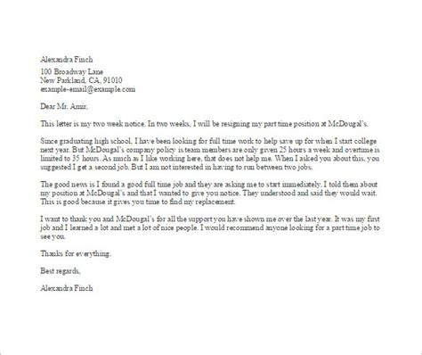 Writing A Resignation Letter For Work by 19 Resignation Letter Templates Free Sle Exle Format Free Premium