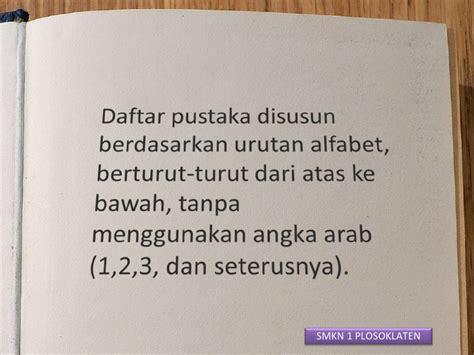 penulisan daftar pustaka berdasarkan eyd petunjuk penulisan laporan prakerin