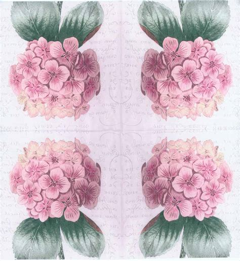 Purple Decoupage Paper - decoupage paper napkins of purple hydrangeas