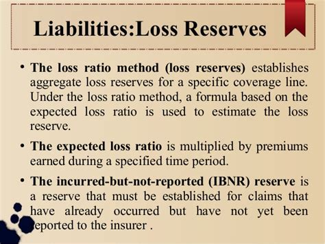 Formula Credit Loss Ratio Chapter 6 Financial Operations Of I Nsurers