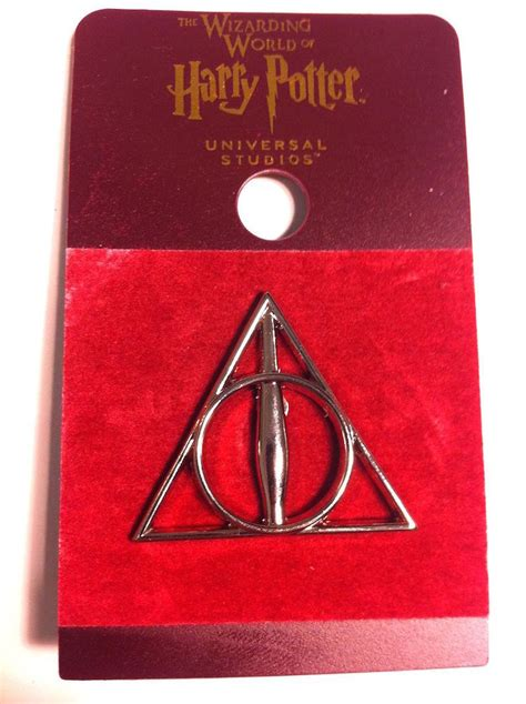 Universal Studios Gift Card - universal studios harry potter the deathly hallows symbol pin new with card ebay