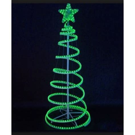 6 green led lighted outdoor spiral rope light christmas
