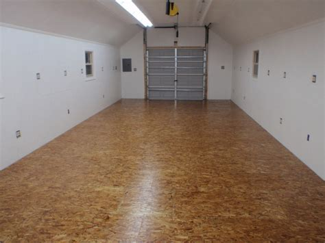 garage insulated work floor installation