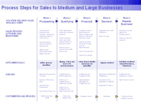 Download Free Process Steps For Sales To Larger Businesses Agenda Book Templates For Microsoft Sales Process Template