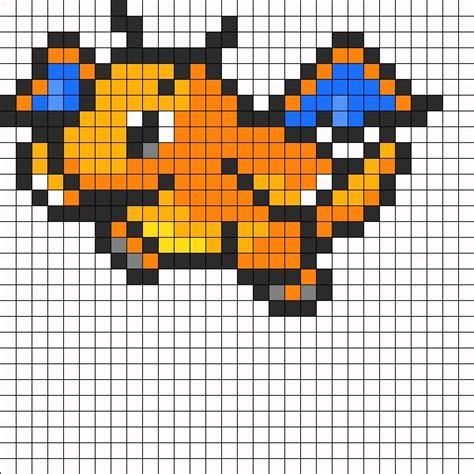 dragonite pokemon sprite bead pattern perler bead