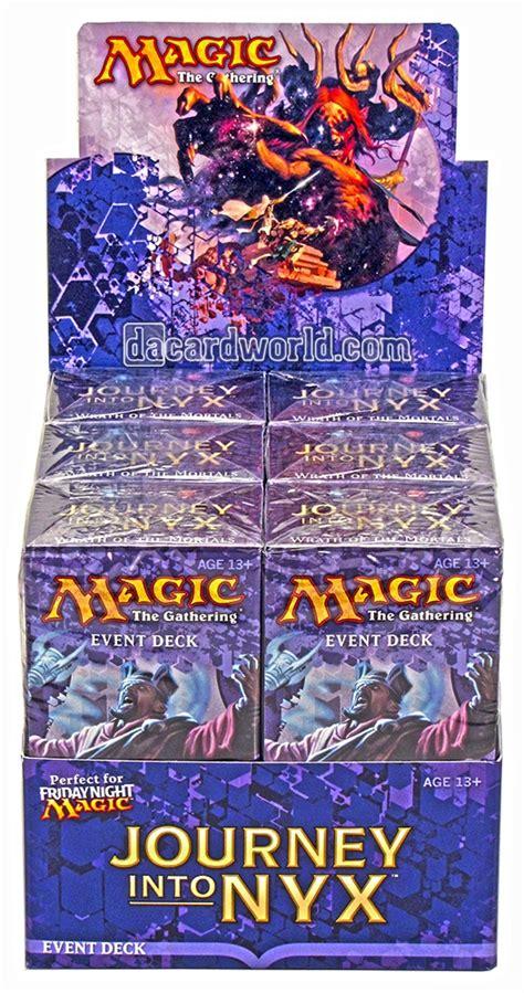mtg event decks magic the gathering journey into nyx event deck box ebay