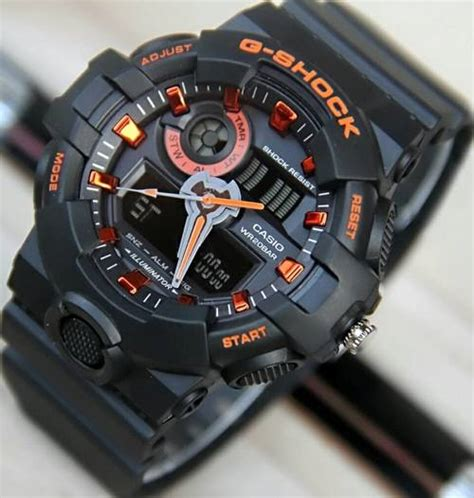 Jam Tangan Swatch Date Rubber Black Orange Kw jam tangan casio g shock ga700 delta jam tangan