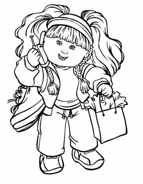 Cabbage Patch Kids Coloring Pages Team Colors Coloring Pages Toddlers