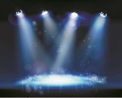 powerpoint templates stage light stage and spotlights design vector 03 over millions