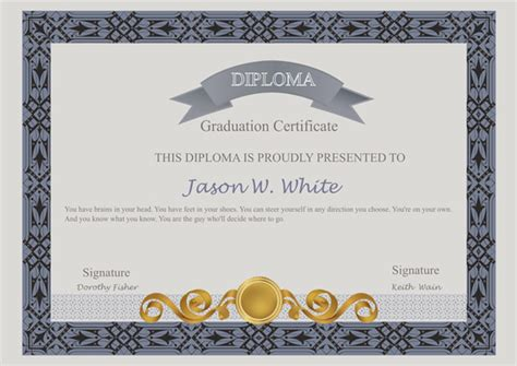 certificates templates sle design excellent