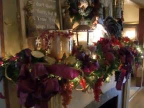 mantels decorated christmas