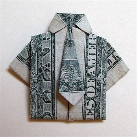 Origami Shirt And Tie - money origami