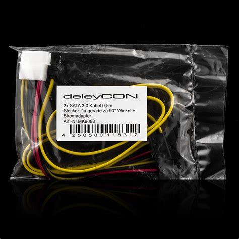 Kabel Sata Set deleycon sata3 kabel set stromadapter 2x gerade