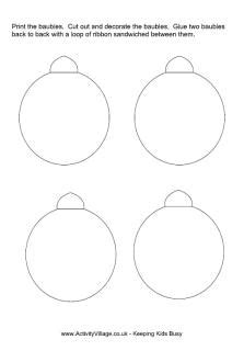 Christmas Bauble Templates Happy Holidays Bauble Template Printable