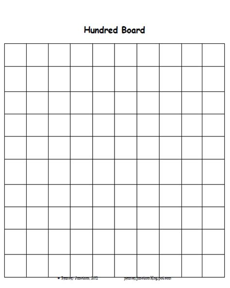 Printable Numbers Board | primary junction skip counting using a hundred board