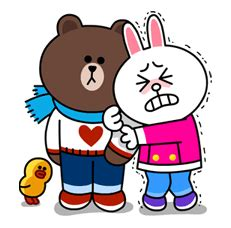 Brown And Cony Are Back And This Time They Re Cuddling Up | brown and cony are back and this time they re cuddling up