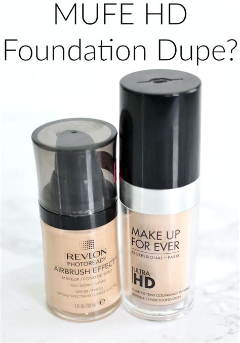 Revlon Hd Foundation mufe hd foundation dupe revlon airbrush effect foundation