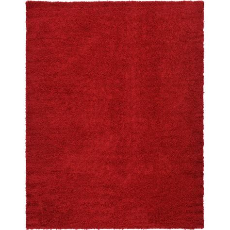 cherry rug unique loom solid shag cherry 10 ft x 13 ft area rug 3127960 the home depot