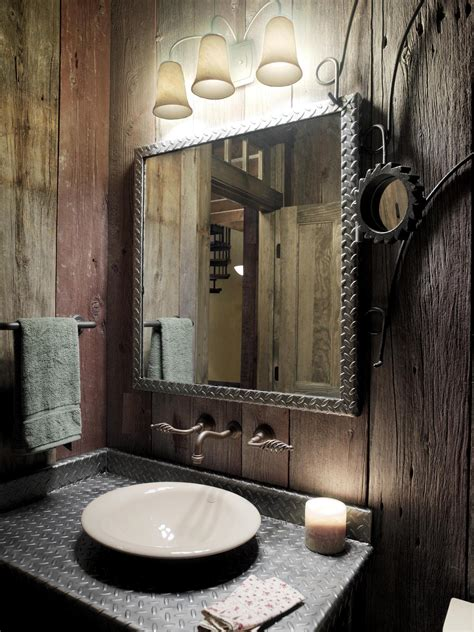 best decor how to create rustic bathroom mirrors design best decor