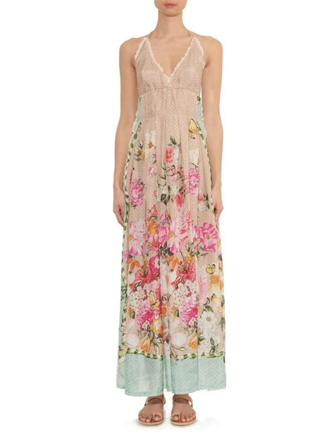 Prita Batik Dress emam 243 floral and butterfly print silk maxi dress lyst