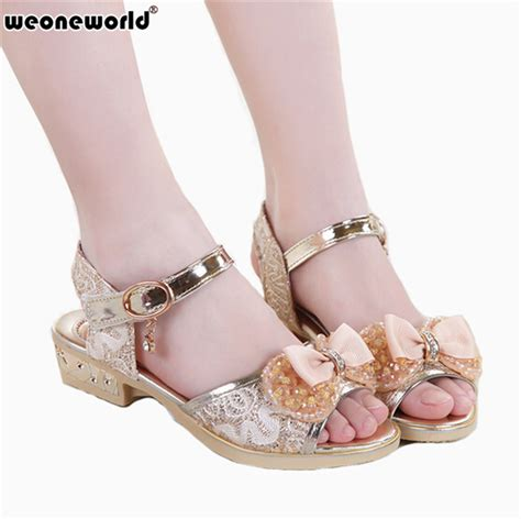 Wedding Dress Heels by Weoneworld 2017 Children Princess Sandals