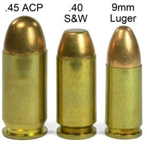 9mm vs 40 s w vs 45 acp quot stopping power quot abe s gun cave