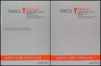 car repair manual download 1990 pontiac grand am instrument cluster 1993 pontiac grand am repair shop manual original 2 volume set