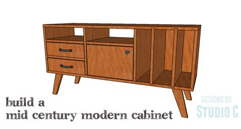 free diy furniture plans to build an mid century modern credenza the design confidential diy plans to build a mid century modern cabinet