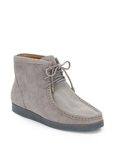 grey chukka boots isaac mizrahi new york chukka boots in gray for grey
