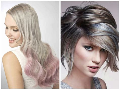 short haircuts brunettes with gray highlights ash blonde hair color ideas hair world magazine