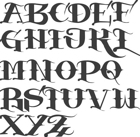 tattoo fonts a z myfonts fonts