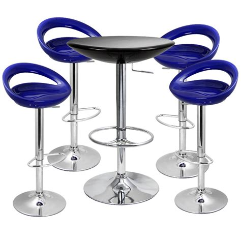 crescent bar stool crescent bar stool and podium table set blue drinkstuff