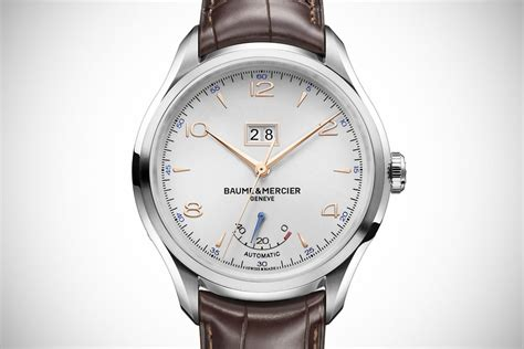 big date and power reserve baume mercier clifton