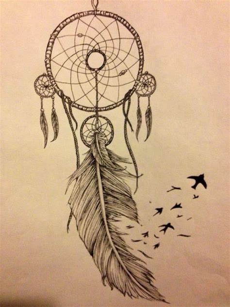 Design Dream Birds | when drawing a dream catcher there are many different