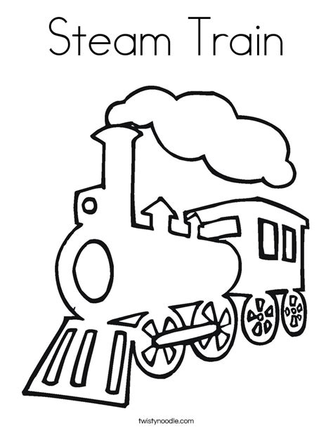 steam train coloring page twisty noodle