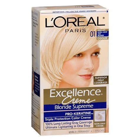 l oreal excellence creme permanent hair color ash 7 1 1 74 oz walmart l oreal excellence creme haircolor supreme light ash 01 1 ea continue to