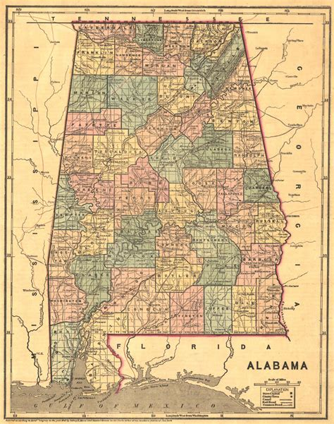 map of alabama counties file 1848 map of alabama counties jpeg wikimedia commons