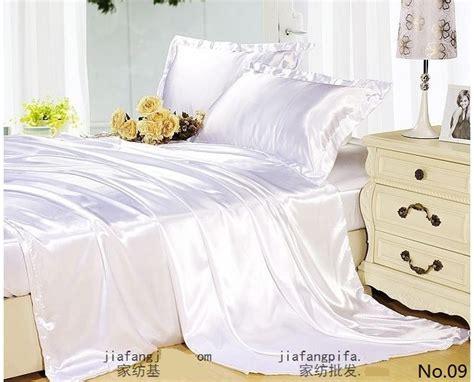 california king bedding set 7pcs white silk satin bedding set california king quilt