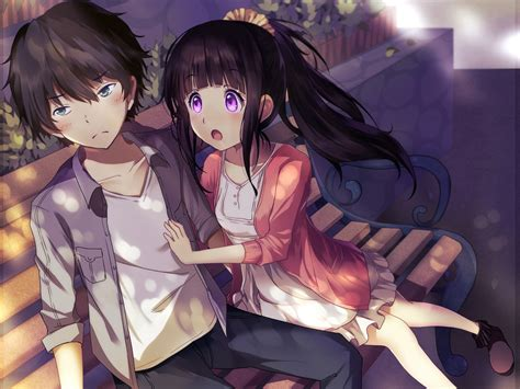 anime hyouka hyouka images chitanda and houtarou hd wallpaper and