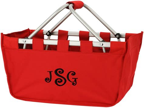 personalized large market utility tote storage basket