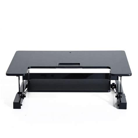 piedi per scrivanie homcom homcom scrivania sit stand per lavoro in piedi