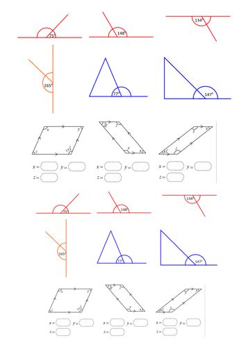 ks2 missing angles on a straight line year 4 5 6