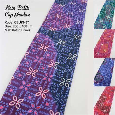 Batik Gamis Gradasi kain batik cap katun motif gradasi kembang kawung kain